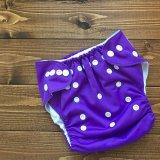 立ったまま履けるパンツ型ワンサイズおむつ/トレパンにも♪「グレープ」紫 パープル