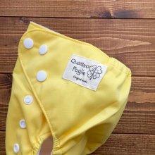 他の写真1: バナナミルク【布おむつ本舗オリジナル】ポケット式ワンサイズおむつカバー(スナップ/ツルツル生地)バナナみるく イエロー 黄色