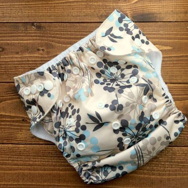 画像1: 立ったまま履けるパンツ型ワンサイズおむつ「北欧ボタニカル」トレパンにも♪花、植物