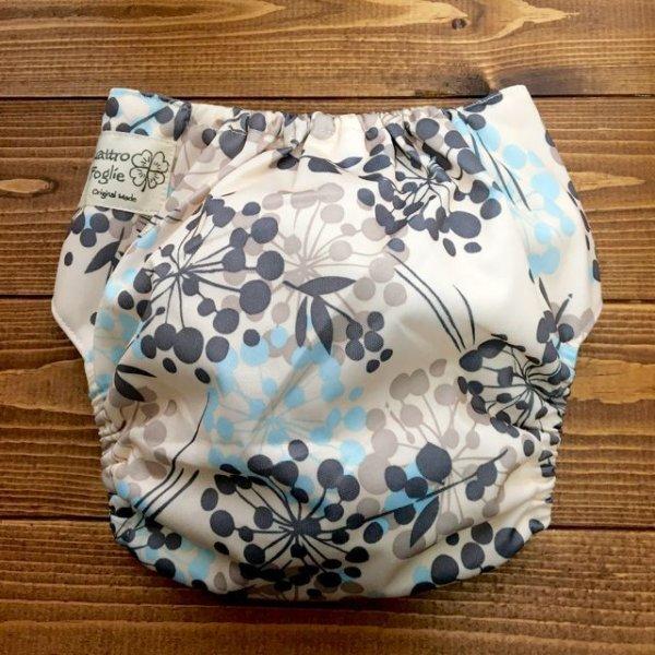 画像3: 立ったまま履けるパンツ型ワンサイズおむつ「北欧ボタニカル」トレパンにも♪花、植物