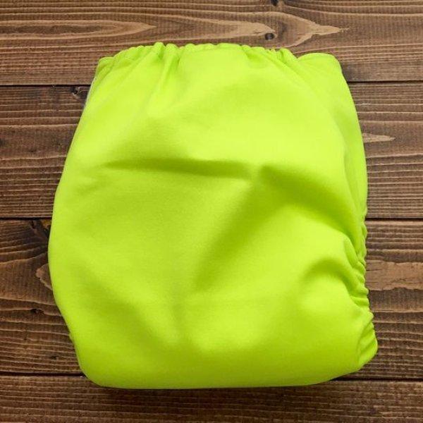 画像3: ライムグリーン【布おむつ本舗オリジナル】ポケット式ワンサイズおむつカバー(マジックテープ/ツルツル生地)明るい黄緑