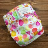 HAPPYバタフライ(ピンク)【よつばのおむつ/日本製/ハンドメイド布おむつカバー】 (透湿性防水布使用)蝶々,ちょうちょ
