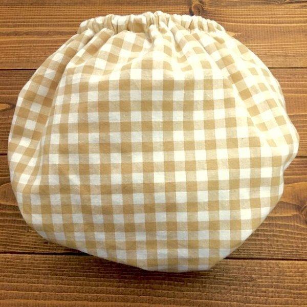 画像2: ギンガムチェック(ベージュ)【立ったまま交換出来る♪パンツ型おむつカバー】トレパンにも♪ハンドメイド*透湿性防水布入りリニューアル版/ナチュラル