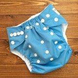 立ったまま履けるパンツ型ワンサイズおむつトレパンにも♪「青空ブルー」