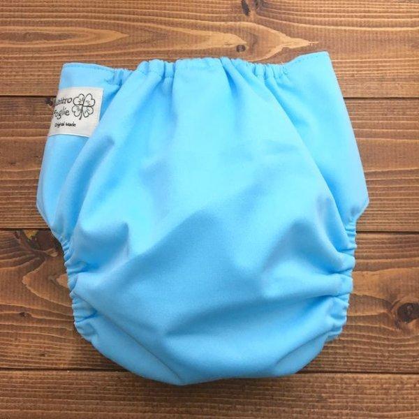 画像3: 立ったまま履けるパンツ型ワンサイズおむつトレパンにも♪「ソーダ色」水色