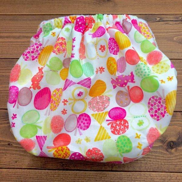画像3: HAPPYバタフライ(ピンク)/透湿性防水布入りトレパン【ハンドメイド】立ったまま交換出来る♪パンツ型おむつカバー/花柄