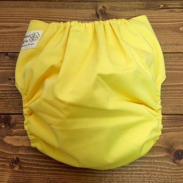 画像2: 立ったまま履けるパンツ型ワンサイズおむつトレパンにも♪「バナナミルク」バナナみるく イエロー 黄色
