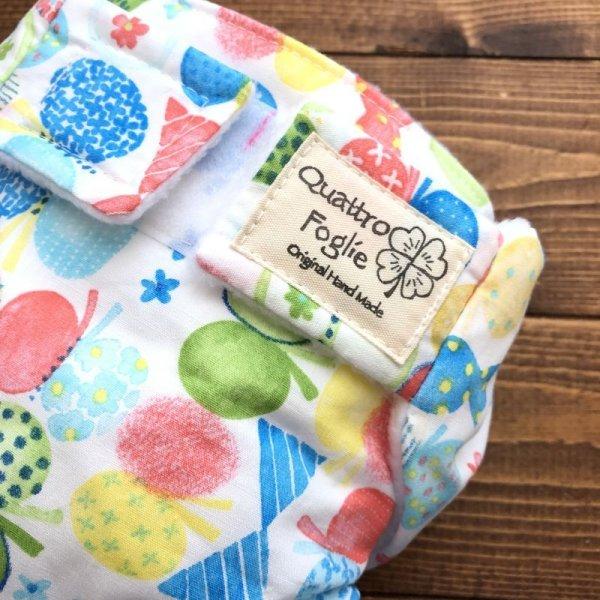 画像2: HAPPYバタフライ(ブルー)【よつばのおむつ/日本製/ハンドメイド布おむつカバー】 (透湿性防水布使用)蝶々,ちょうちょ