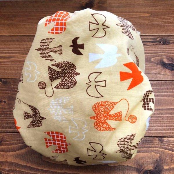 画像4: 北欧ムクドリ(ベージュ)【よつばのおむつ/日本製/ハンドメイド】布おむつカバー (透湿性防水布使用/リニューアル版)鳥,とり