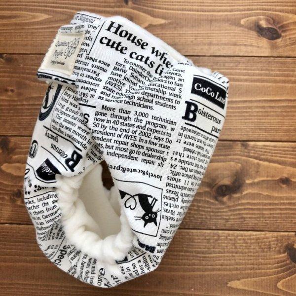 画像4: 猫新聞【よつばのおむつ/日本製/ハンドメイド】布おむつカバー (透湿性防水布使用/リニューアル版)ねこ,ネコ,CAT