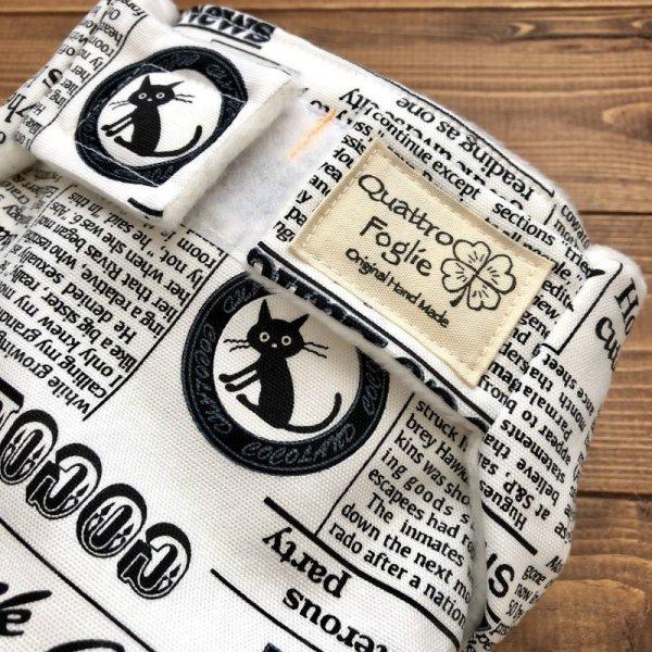 画像2: 猫新聞【よつばのおむつ/日本製/ハンドメイド】布おむつカバー (透湿性防水布使用/リニューアル版)ねこ,ネコ,CAT