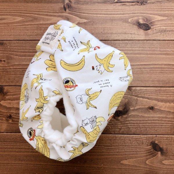 画像3: 猫バナナ【よつばのおむつ/日本製/ハンドメイド】布おむつカバー (透湿性防水布使用/リニューアル版)ネコ,ねこ,ニャンコ