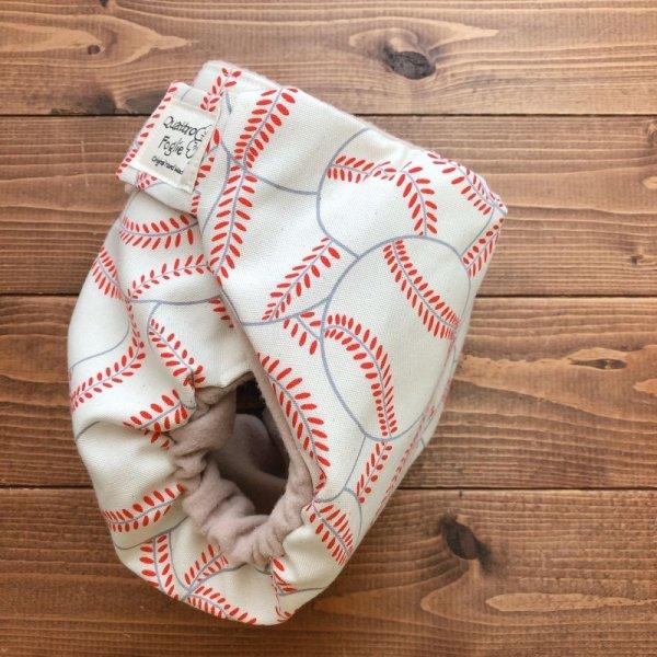 画像3: 野球ボール(キナリ)【よつばのおむつ/日本製/ハンドメイド】布おむつカバー (透湿性防水布使用/リニューアル版)男の子