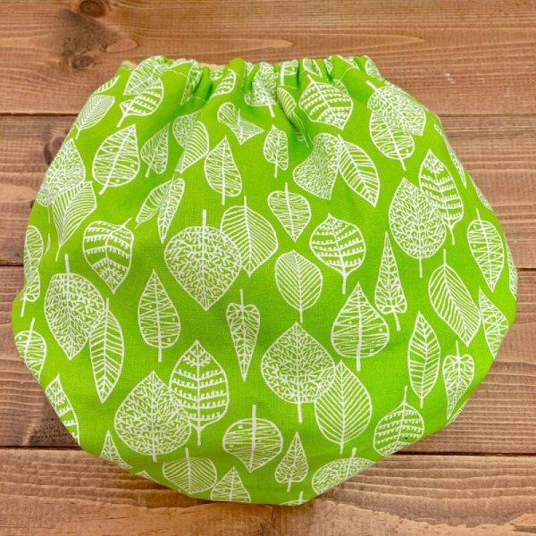 画像3: 北欧ミニリーフ(グリーン)透湿性防水布入りトレパン【リニューアル版/ハンドメイド】立ったまま交換出来る♪パンツ型おむつカバー