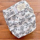 自転車柄【よつばのおむつ/日本製/ハンドメイド】布おむつカバー (透湿性防水布使用/リニューアル版)bicycle,男の子