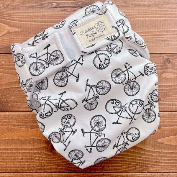 画像1: 自転車柄【よつばのおむつ/日本製/ハンドメイド】布おむつカバー (透湿性防水布使用/リニューアル版)bicycle,男の子