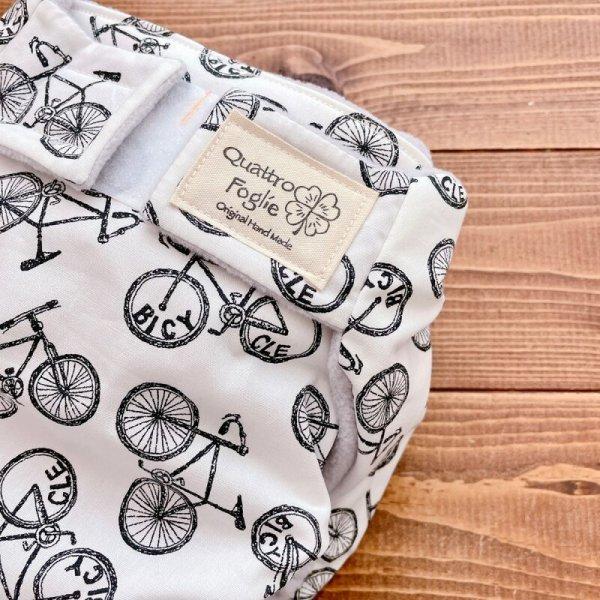 画像2: 自転車柄【よつばのおむつ/日本製/ハンドメイド】布おむつカバー (透湿性防水布使用/リニューアル版)bicycle,男の子