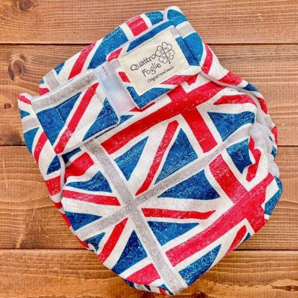 画像1: ユニオンジャック【よつばのおむつ/日本製/ハンドメイド】布おむつカバー (透湿性防水布使用)イギリス,国旗