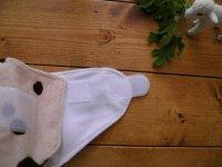 画像3: もこもこミルクソーダ【布おむつ本舗オリジナル】ポケット式ワンサイズおむつカバー ふんわり(マジックテープ/ミンキー素材)水色 ブルー 赤ちゃんらしいパウダーカラー モコモコ