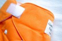 画像1: オレンジ【布おむつ本舗オリジナル】ポケット式ワンサイズおむつカバー(マジックテープ/ツルツル生地))