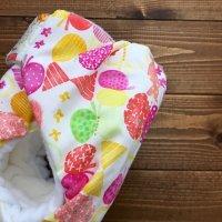画像1: HAPPYバタフライ(ピンク)【よつばのおむつ/日本製/ハンドメイド布おむつカバー】 (透湿性防水布使用)蝶々,ちょうちょ