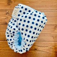 画像1: 和柄ドット【よつばのおむつ/日本製/ハンドメイド】布おむつカバー (透湿性防水布使用)水玉