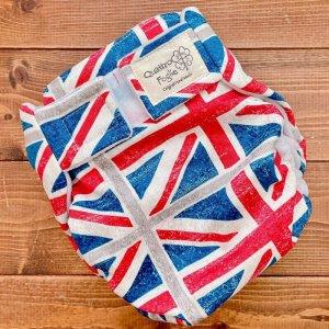 画像1: ユニオンジャック【よつばのおむつ/日本製/ハンドメイド】布おむつカバー (透湿性防水布使用)イギリス,国旗 (1)